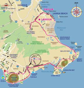 Map Kailua Lanikai